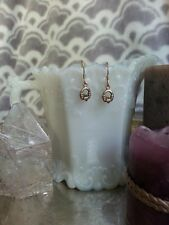 Hand Crafted Bronze Celtic Claddaugh Earrings Beautiful Hand-fasting Love