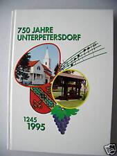 Ortschronik 750 Jahre Unterpetersdorf Burgenland 1995