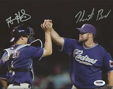 Heath Bell & Nick Hundley Signed Padres 8x10 Photo PSA/DNA COA Picture Autograph