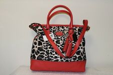NWT COACH LEGACY RORY ORANGE SATCHEL OCELOT LEOPARD TOTE CARNELIAN BAG 19988