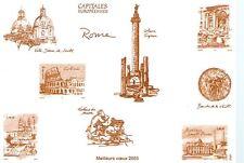 BLOC FEUILLET NON DENTELE SUR BRISTOL - MONOCHROME - ROME 2003 - CAPITALE EUROPE
