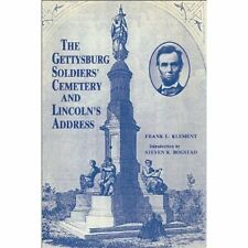 GETTYSBURG SOLDIERS' CEMETERY & LINCOLN'S ADDRESS 1stEd