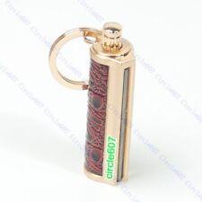 Stainless steel KeyChain Permanent Match Striker Lighter Keyring Golden