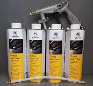 4 x Unterbodenschutzwachs Normfest Transparent 1000ml + UBS-Pistole #