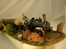 Steam Donkey Logging Diorama - custom weathered/handcrafted - HO scale - lot 6