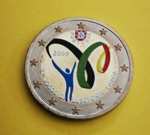 2 euro commémorative colorisée Portugal 2009 Lusophonie