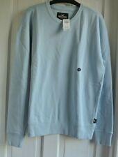 New Hollister Mens cotton rich Sweatshirt Light blue M