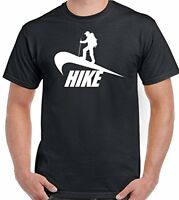 Hiking Parody - Mens Hiking T-Shirt Hike Hiker Boots Walking Trek Rambling Stick