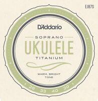 D'Addario EJ87S T2 Titanium Soprano Ukulele Uke Strings