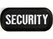 "(H37) SECURITY 3"" x 1.5"" iron on patch (1187)"