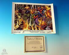Spider-Man Enter The Green Goblin Lithograph Signed with Sketch Smith Frenz COA