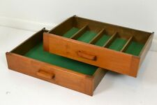 2 Teak Drawers for Retro Sideboard Chest Buffet Vintage Parker Burgess Danish