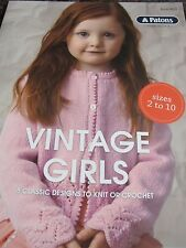PATONS KNITTING PATTERN BOOK VINTAGE GIRLS,NO 8023,NEW