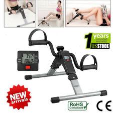 Foldable Pedal Fitness Exerciser Cycle Bike Leg / Arm w/ LCD Display Home Gym US