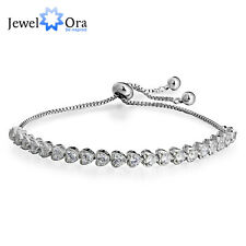 Tennis Bracelets Heart Cubic Zirconia Fashion Adjustable Bracelets Friend Gift