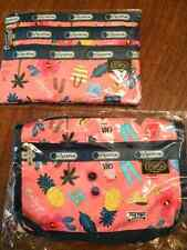 Le sportsac x Rifle Paper Co Set of Two Cosmetic Travel Bags in Tropical Voyage