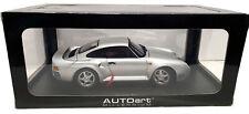 AutoArt Porsche 959 Silver 1:18 Scale Diecast Model 78081