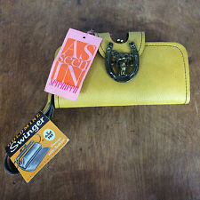 Vintage Mid Century NOS Horse Yellow Retro Atomic Purse Clutch 1970s Swinger