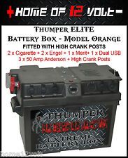 Thumper ELITE Battery Box ORANGE 2x Cigarette 2x Engel 1x Merit 1x Dual USB +HCP