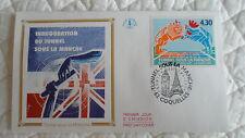 FDC Enveloppe Premier Jour - CEF - Tunnel sous la Manche - 03/05/1994 - Coquelle