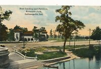 INDIANAPOLIS IN – Riverside Park Boat Landing and Pavilion - 1911