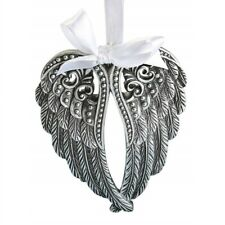 Silver Angel Wings Christmas Tree Ornament