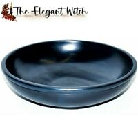 """6"""" BLACK STONE SCRYING BOWL Wicca Pagan Witchcraft Divination Spells Magick"""