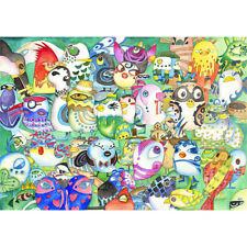 Wooden Jigsaw Puzzles 500 PCS Owl Cartoon Animals Decorative Painting Gift Decor