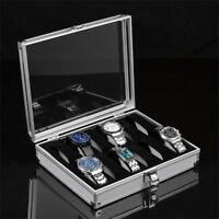 12/6/2 Grid Slots Jewelry Watches Display Storage Box Case Aluminium Square  3W