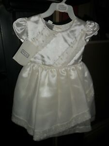 STUNNING BABY GIRL CHRISTENING WEDDING DRESS SPECIAL OCCASION PARTY IVORY NEW