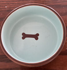 Listing (1) Pet Bowl Dishes Stoneware Dog Top Paw