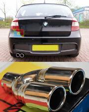 BMW SERIE 1 2004-2011 TERMINALI DI SCARICO CROMATI INOX DOPPIO USCITA INOX -