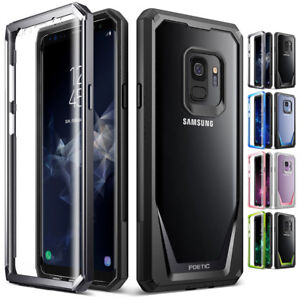 For Samsung Galaxy S9 Case Clear Back Shockproof Cover with Screen Protector