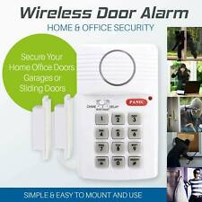 Home Garage Shed Caravan Security Burglar Wireless Alarm with Keypad Window Door