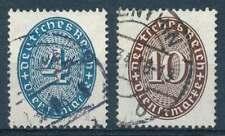 D.Reich Dienst Nr. 130-131 gestempelt,  Strohhutmuster 1933 (66053)