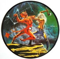 "EX/EX IRON MAIDEN RUN TO THE HILLS 7"" VINYL 45 PICTURE PIC DISC"