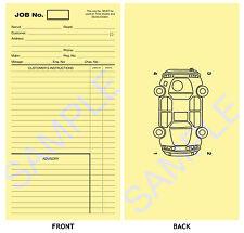 GARAGE WORKSHOP REPAIR JOB CARD - WORKS CARDS - JOB SHEET Pack of 50 Yellow Card