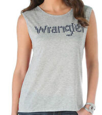 NWT Wrangler Womens Striped Back Logo Patriotic Tank Top T Shirt LWK615M Large