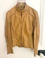 Prada Nappa Leather Biker Jacket UK 10 EU42