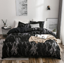 Lhb47 3Pcs Marble Printed Comforter Cover Bedding Set Pillowcase Queen King Size