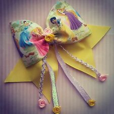 """Large 6"""" girl's hair bow/clip Snow White ,Tangled, Cinderella, Sleeping Beauty"""
