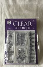 New Studio G Clear Stamps - 4 Pieces - Happy Birthday, hats, Let's Party!, Cake