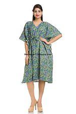 Paisley Plus Size Beach Wear Short Dress Kaftan Ethnic Indian Loose Bikini Wear