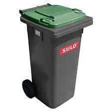 Container SULO 120 L ordures ménagères tri sélectif, Gris couvercle Vert (22147)