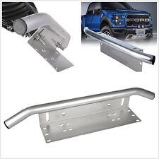 Silver Offroad Light/LED Bar Car Front Bumper License Plate Mount Bracket Holder