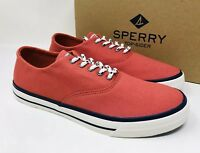 Sperry Top-Sider Men's Captain's CVO Nautical Sneaker Red, Pick A Size