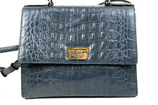 Vintage Kate Spade Gray Croc Print Leather Satchel Doctor Bag Handbag Briefcase