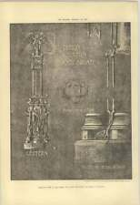 1902 Design For A Lectern In Cast Bronze, Plans Section Base, S Thompson