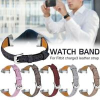 For Fitbit Charge 3 Smart Watch Bands Strap Bracelet Wrist Watch Leather