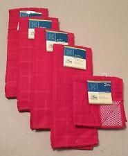 Kitchen Accessory Set Microfiber Hand Towel Dish Cloth Scrubbie Red NEW